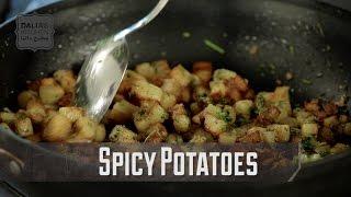 Batata Harra - Middle Eastern Spicy Potatoes | Dalias Kitchen | Vegan Vegetarian
