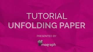 Unfolding Paper Tutorial After Effect