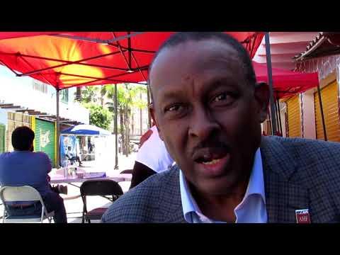 Guy Lamothe, embajador de Haití en México, explica el proceso de la jornada médica para migrantes realizada en el Centro de Tijuana.