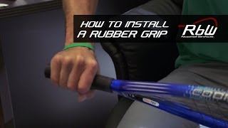 How to Install a Rubber Grip on a Racquetball Racquet