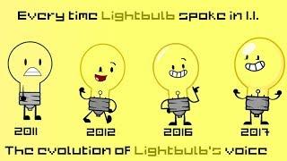 Everytime Lightbulb Spoke In Inanimate Insanity [Evolution Of Lightbulbs Voice]