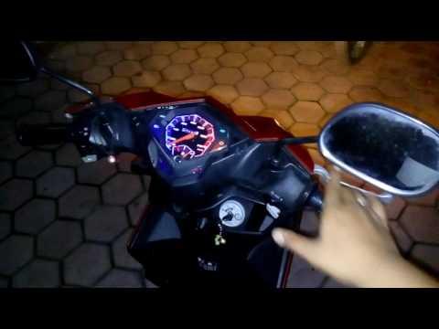 Video Modifikasi lampu led mio m3