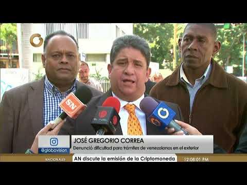 Diputado Correa: Situación consular de venezolanos en el exterior es cada día más deficiente