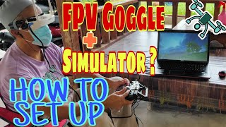 How to set up FPV Goggle with Simulator   Practice Flying FPV Acro Mode on Liftoff Drone Simulator  