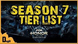 For Honor - Season 7 Tier List - dooclip.me
