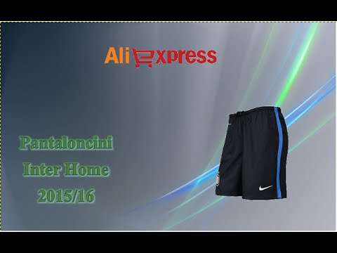 Aliexpress unboxing (103) - Pantaloncini Inter 15/16 home soccer shorts pants Milano italy