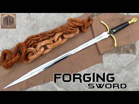 Watch This Man Turn a Rusted Chain Into a Japanese Sword