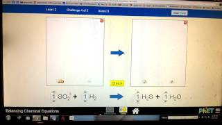 Level 2 Tutorial PhET Balancing Chemical Equations