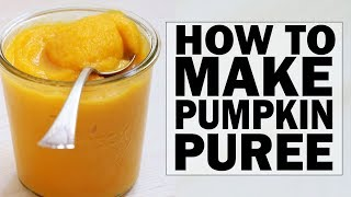 How-To Make Pumpkin Puree | DIY Homemade Pumpkin Puree