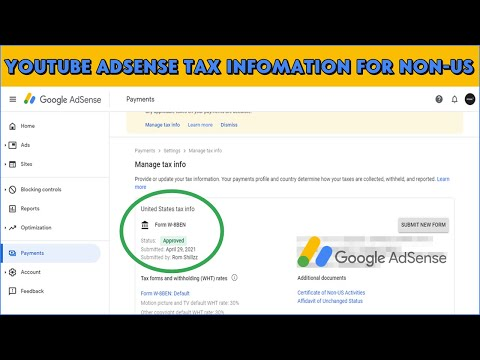 How To Fill The YouTube Adsense Tax Information for Non-US YouTube Creators (Nigerians!)