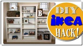 IKEA Hack - Custom Built In - Billy Bookcase