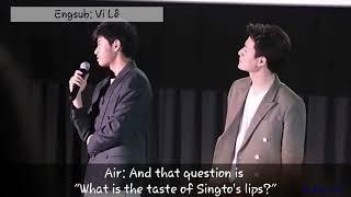 "[Engsub] ""What Is Taste Of Krist's Lips?"" (18+)😈 Poor Singto 😂   180527   KristSingto Baby Bright"