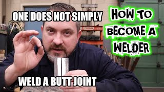 How to gas weld butt joints