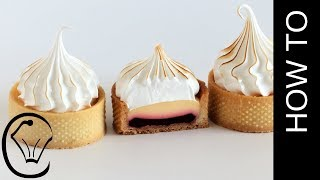 Mini Raspberry And Lemon Meringue Tarts Sable Pastry Lemon Pie