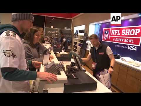Fans Scoop Up NFL Gear Ahead of Super Bowl
