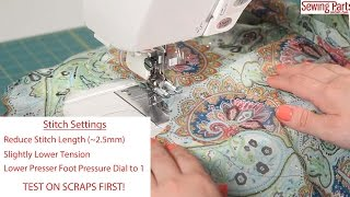 Sewing Minis (Ep 7): How To Sew Sheer Fabric