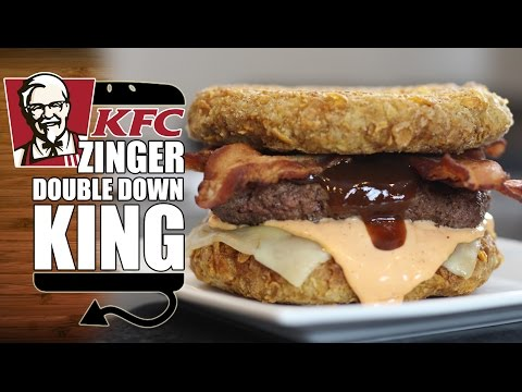 KFC Zinger Double Down King Recipe Remake – HellthyJunkFood