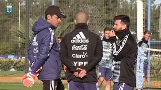 [SELECCIÓN MAYOR] Lionel Messi entreno por primera vez en Predio de Ezeiza