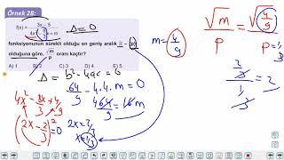 Eğitim Vadisi AYT Matematik 14.Föy Türev 2 Konu Anlatım Videoları