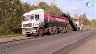 В Поддорском районе идет масштабный ремонт дороги
