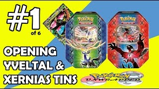 POKEMON YVELTAL + XERNEAS TINS - 3 EX CARDS IN 1 TIN!!! MEGA VENUSAUR EX CARD PULL!