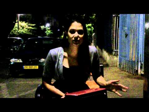 Video blogging from Israel