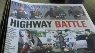 redshirtデンジャラスバンコク4月29日の新聞HIGHWAYBATTLE