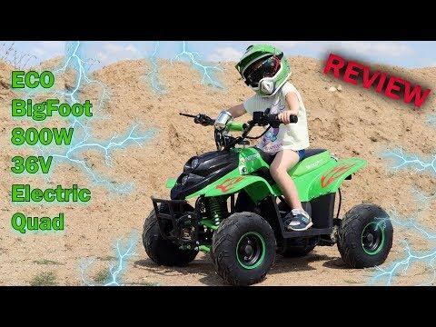 ECO BigFoot V2 800W 36V Electric Quad Bike - Full REVIEW