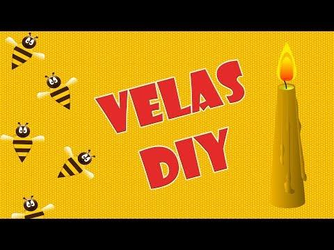 Cómo hacer velas de cera de abeja, velas ecológicas paso a paso.