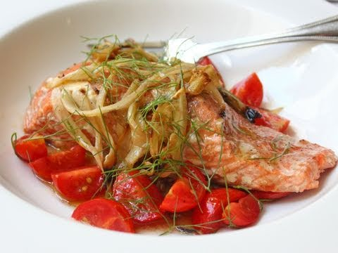 Fennel Smoked Salmon – Hot-Smoked Salmon Recipe with Fennel and Tomatoes