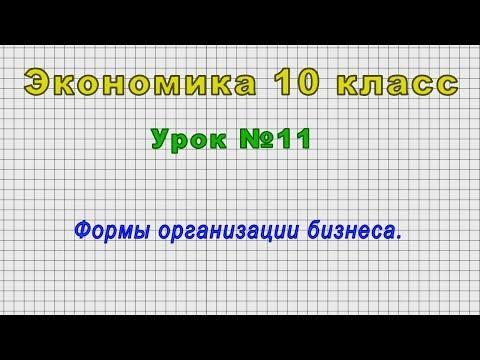Экономика 10 класс (Урок№11 - Формы организации бизнеса.)