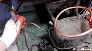 Перепайка всасывающего патрубка горки. Ремонт холодильной горки.
