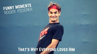 Tennis. Roger Federer - TOP EVER FUNNY Moments (part 2)