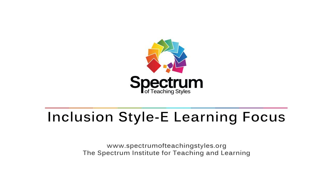 Inclusion Style-E Learning Focus's thumbnail