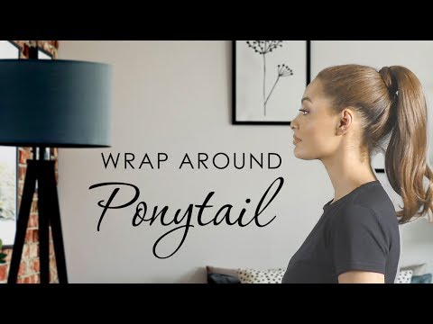 Hairspray Wrap Around Ponytail