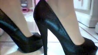 Heel Shoes Colin Stuart Peep- Toe Pump ♥ I Love Shoes