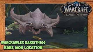 World of Warcraft Warcrawler Karkithiss Rare Mob Location