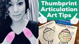 Thumbprint Articulation Art
