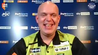 "Michael van Gerwen after opening Grand Prix win: ""Devon is on my target list – I want to beat him"""