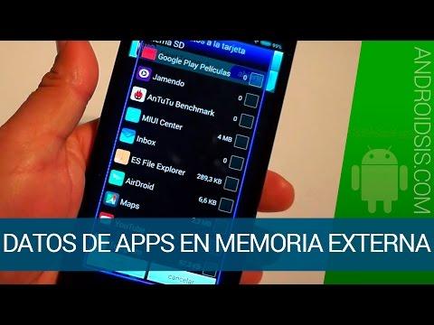 Cómo utilizar la memoria externa para almacenar los datos de las aplicaciones