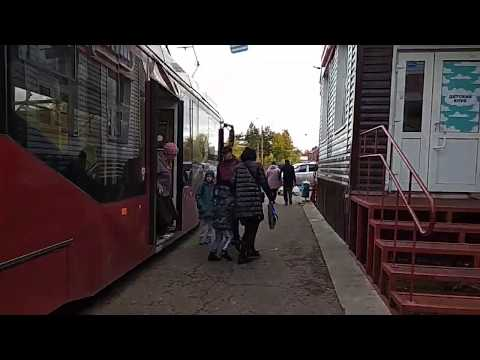 02.10.2019 На остановке 4 трамвая нет  скамейки VID 20191002 151739