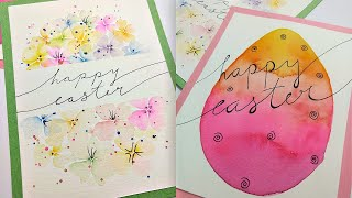 2 EASY Easter Watercolor Cards Part 1 | How To Paint The Easiest Flowers For Spring