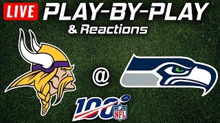 Vikings vs Seahawks |  Live Play-By-Play & Reactions