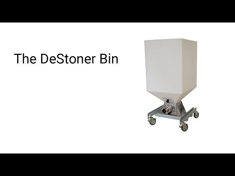 The DeStoner bin Destoner sold by Advanced Auxiliary Equipment, Inc.