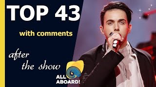 Eurovision 2018 | My TOP 43 after the show (with comments) lyrics EN