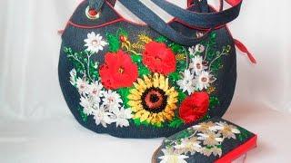 Джинс. Рукоделие из джинсовой ткани. Сумки, поделки, цветы, игрушки.