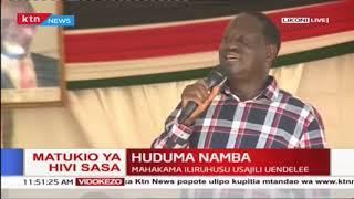 Raila Odinga aongoza shuguli ya usajili wa Huduma Namba Mombasa