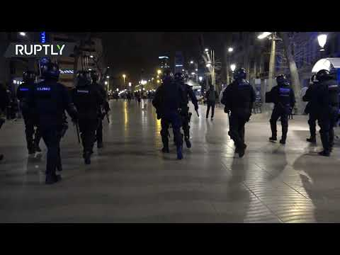 At least 13 arrested as rally resumes in support of jailed rapper Pablo Hasel in Barcelona