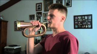 The Last Post played on a bugle by Jordan - Behind the news