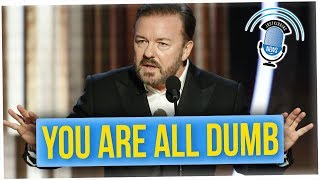 Ricky Gervais Roasts the Audience at The Golden Globes